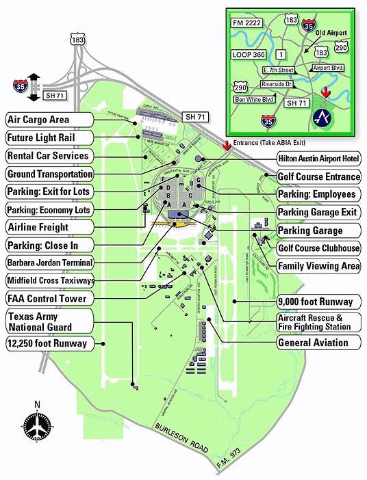 Austin Airport Information  Austin Airport Terminal Map