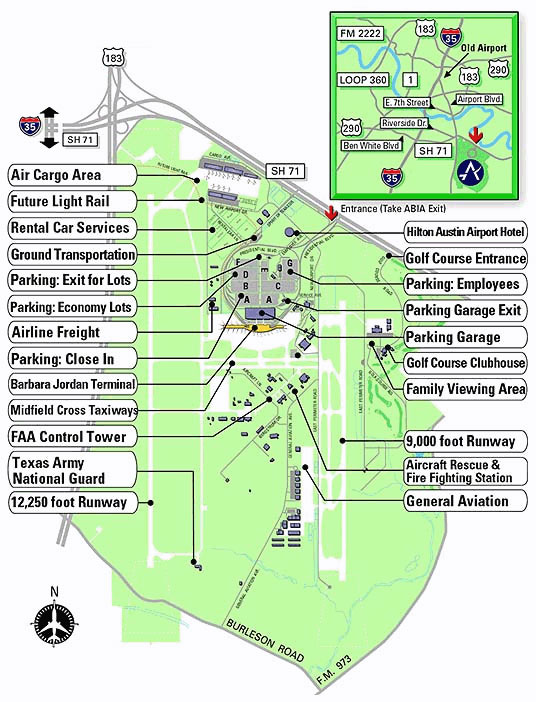 Austin Airport Information  Austin Airport Terminal Map
