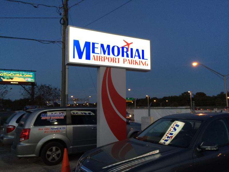 Memorial Airport Parking TPA Logo